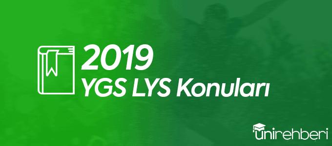 2019 YGS LYS Konuları