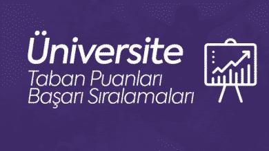 Üniversite Taban Puanları ve Başarı Sıraları