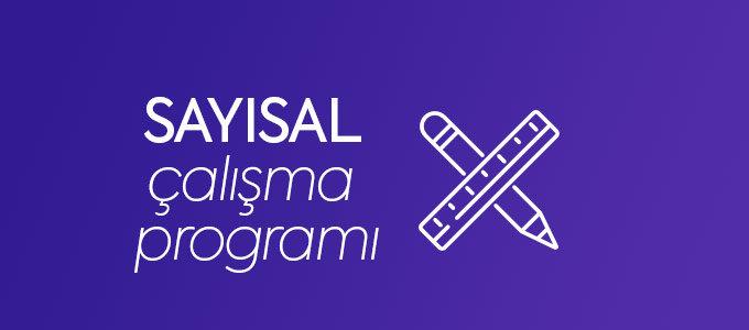 Sayısal Çalışma Programı