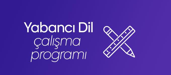 Yabancı Dil Çalışma Programı
