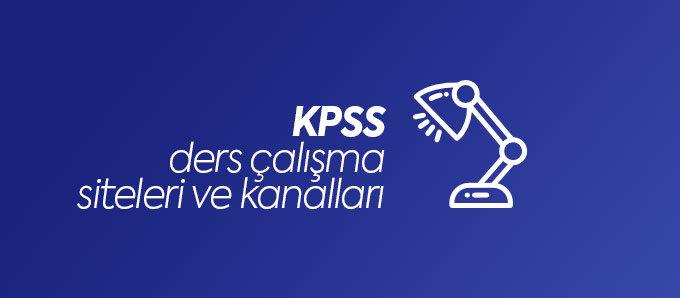 KPSS ders çalışma kanal ve siteler