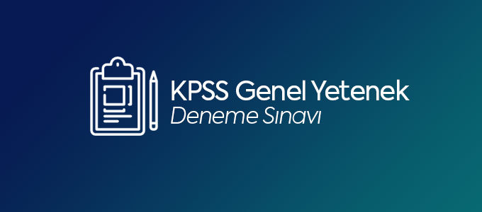 KPSS Genel Yetenek Deneme Sınavı