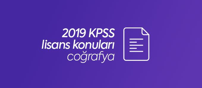 2019 kpss coğrafya konuları
