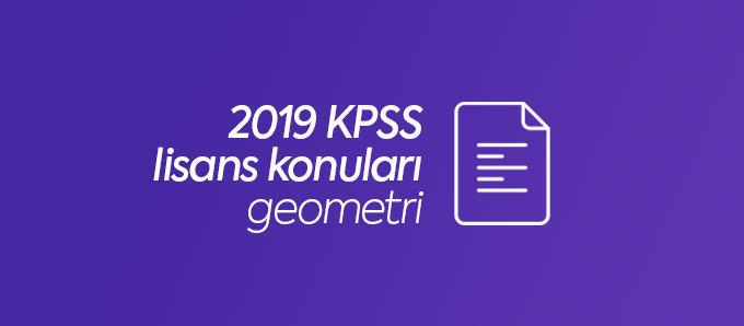 kpss lisans geometri konuları