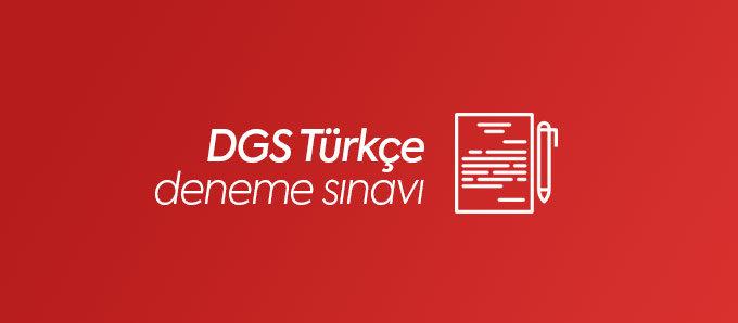 DGS Türkçe Deneme Sınavı