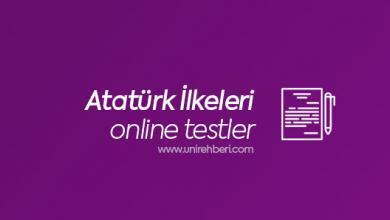 Atatürk İlkeleri Testleri