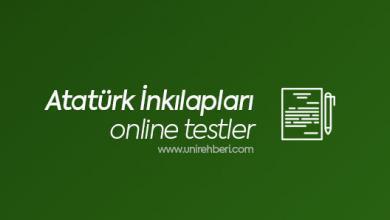 Online Atatürk İnkılapları Testleri