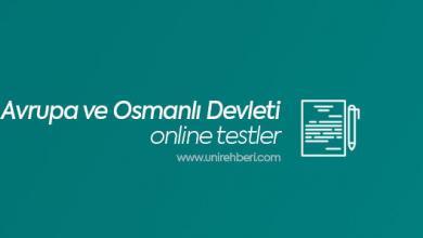 Avrupa ve Osmanlı Devleti testleri