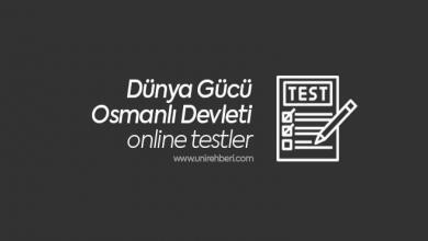 Dünya Gücü Osmanlı Devleti Test