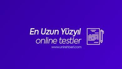 Online En Uzun Yüzyıl testleri