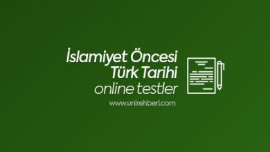 Online İslamiyet Öncesi Türk Tarihi testleri