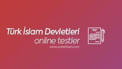 Online Türk İslam Devletleri testleri
