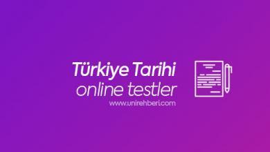 Online Türkiye Tarihi Testleri