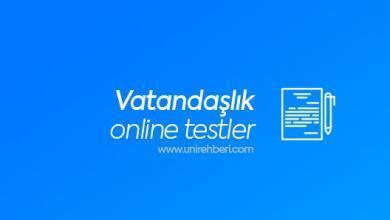 Online Vatandaşlık Testleri