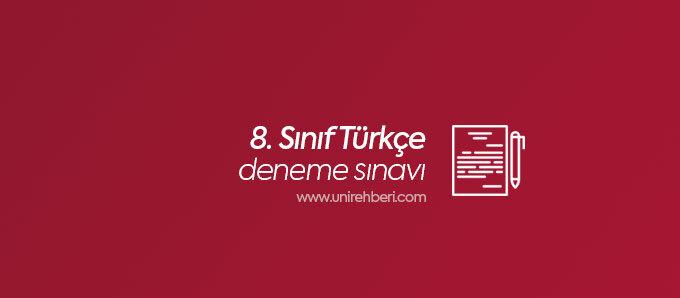 8. Sınıf Türkçe deneme sınavı
