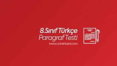 8. Sınıf Paragraf testleri