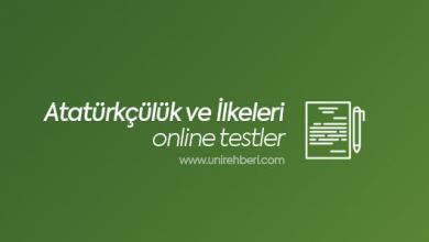 Atatürkçülük ve Atatürk İlkeleri testleri