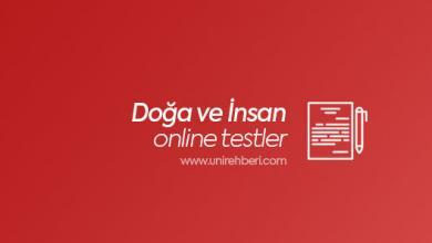 Doğa ve İnsan test çöz