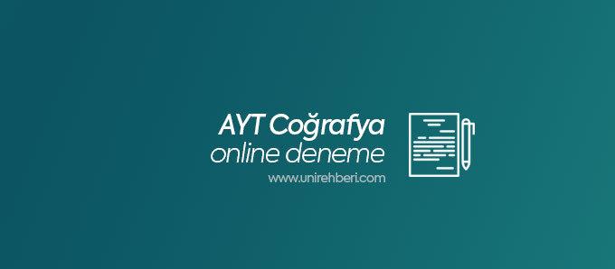 AYT Coğrafya Online Deneme Çöz