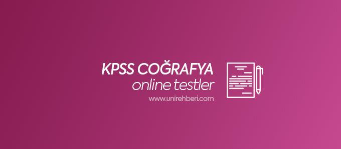 KPSS Coğrafya test çöz