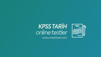Online KPSS Tarih Testleri Çöz