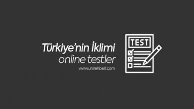 Türkiye'nin İklimi Test