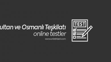 Sultan ve Osmanlı Teşkilatı Test