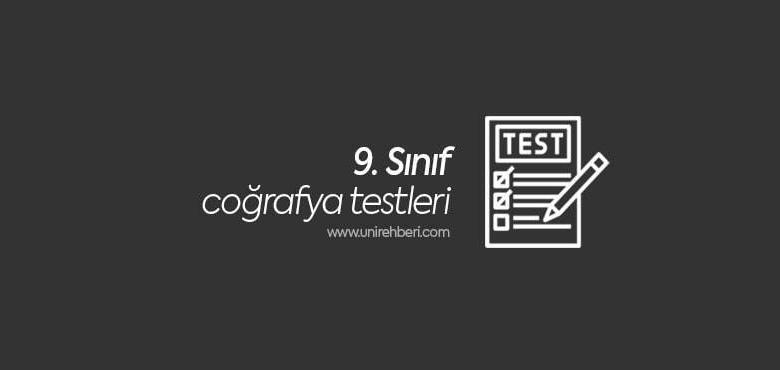 9. Sınıf Coğrafya Test