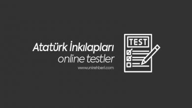 Atatürk İnkılapları Test