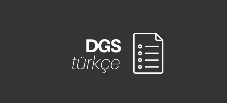 DGS Türkçe Konuları