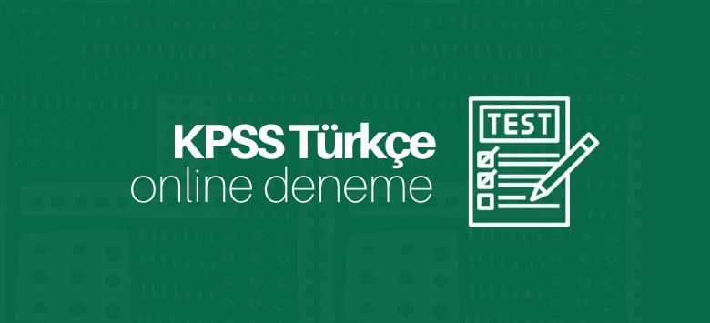 KPSS Türkçe Deneme Çöz